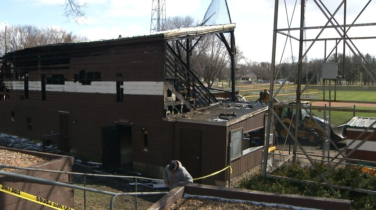Blaze destroys beloved Tink Larson baseball field in Waseca