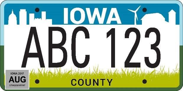 New plate wins in Iowa