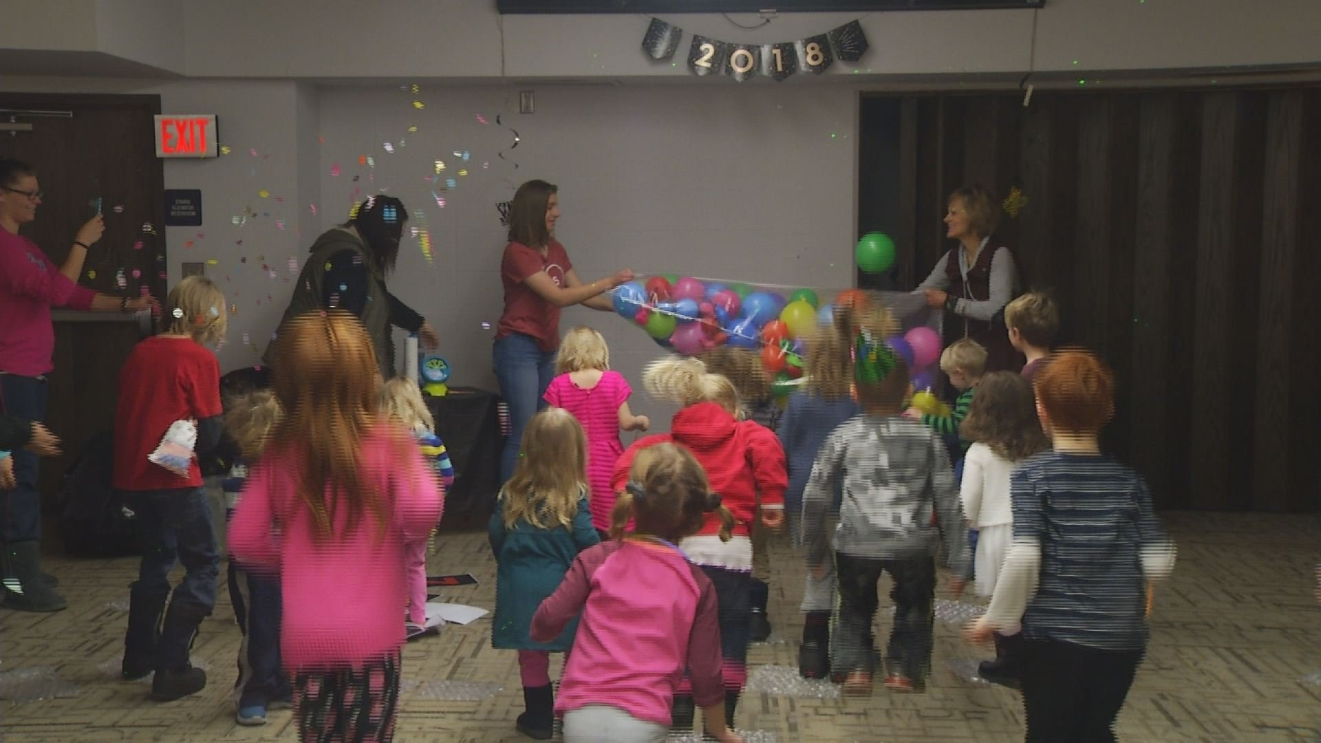 Kids celebrate Noon Year's Eve at Kansas Children's Discovery Center