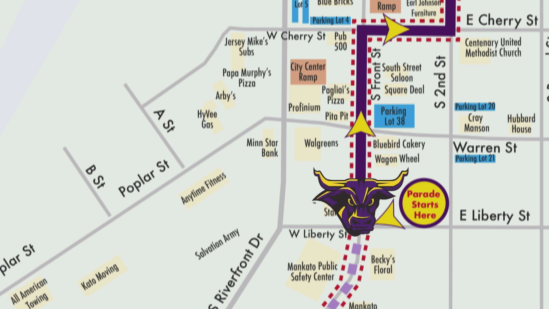 Mankato State Campus Map.New Route For Msu Mankato S Homecoming Parade Keyc Com